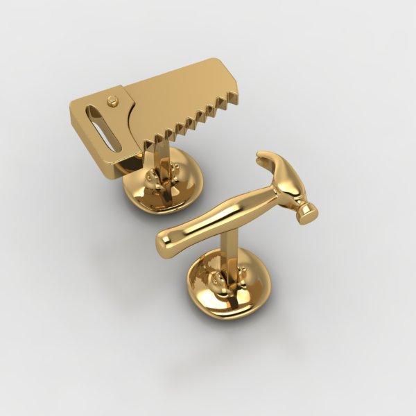 Custom gold cufflinks made by DiamondsByMe